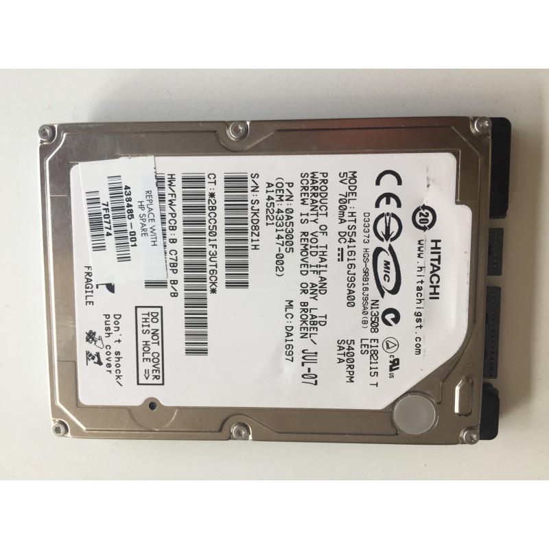 "Disque Dur 160Go SATA 2.5"" Hitachi HTS541616J9SA00 pour HP Pavilion DV6000"