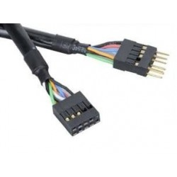 Rallonge Cable USB 2.0 interne Akasa (20 broches) 40cm (Noir)