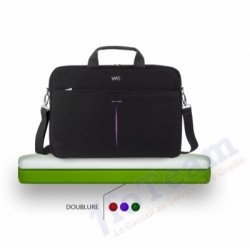 "Sacoche Ordinateur Portable We Luxury Noir/Violet 15,6"" max"