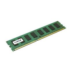 Barrette mémoire RAM DDR3 4096 Mo (4 Go) Crucial PC12800 (1600 Mhz) 1.5V