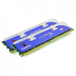 Barrette Mémoire RAM HYPERX Kingston - 2x1go - DDR2-800 - Occasion