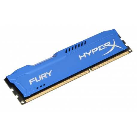 Barrette mémoire RAM DDR3 8192 Mo (8 Go) Kingston HyperX Fury BLUE PC10666 (1333 Mhz)