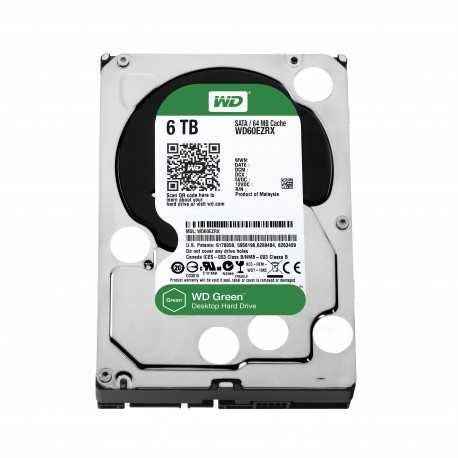 Disque Dur Western Digital 6 To (6000 Go) S-ATA 3 - Caviar Green (WD60EZRX)