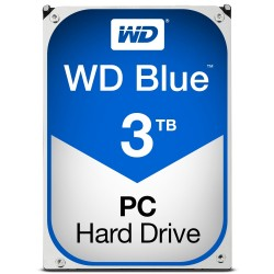 Disque Dur Western Digital 3 To (3000 Go) S-ATA 3 - Caviar Blue (WD30EZRZ)