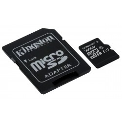 Carte mémoire Micro Secure Digital (micro SD) Kingston 32 Go SDHC Class 10 avec adaptateur