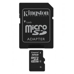 Carte mémoire Micro Secure Digital (micro SD) Kingston 32 Go SDHC Class 4