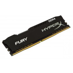 Barrette mémoire RAM DDR4 4096 Mo (4 Go) Kingston HyperX Fury PC19200 (2400 Mhz) (Noir)