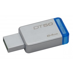 Clé USB Kingston 64 Go DataTraveler DT50 USB 3.1 (Gris Bleu)