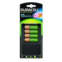 Chargeur de Piles Ultra rapide Duracell 4x AA (4 piles fournies)