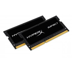 Barrette mémoire RAM SODDIM DDR3 (2x8Go) 16 Go Kingston HyperX Impact PC12800 (1600 Mhz)
