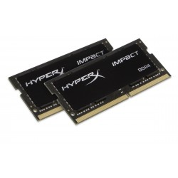 Kit Barrettes mémoire SODIMM DDR4 Kingston HyperX Impact PC4-21300 (2667 Mhz) 16Go (2x8Go) (Noir)