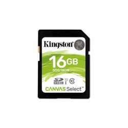 Carte mémoire Secure Digital (SD) Kingston Canvas Select 16 Go SDHC Class 10